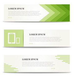 Corporate design banners for web minimalistic vector