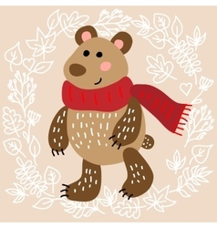 Cute bear vector image