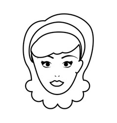 cute woman pop art character vector image