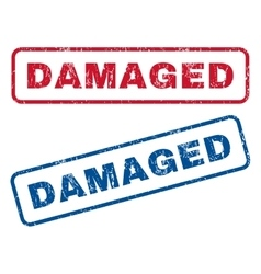 Damaged rubber stamps vector