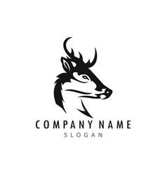 deer logotype vector image