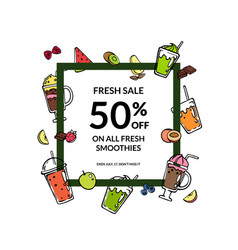 doodle smoothie with place for text vector image