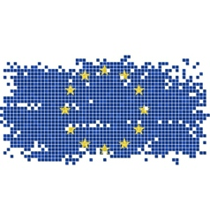 European Union grunge tile flag vector