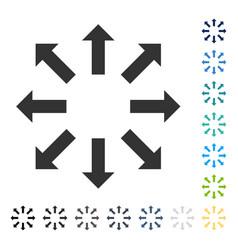 Explode arrows icon vector