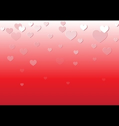 Falling Heart Red Background vector image