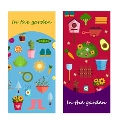 Farm life in the garden banner vector image