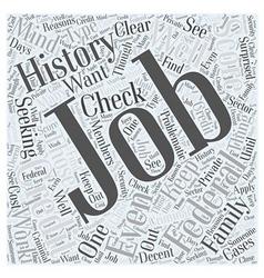 Federal jobs Word Cloud Concept vector