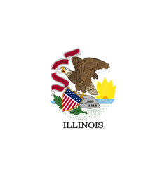 Flag usa state illinois vector