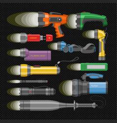 flashlight flash-light lighting vector image