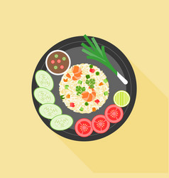 Fried rice in thai style vector