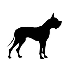 German great dane dog silhouette vector