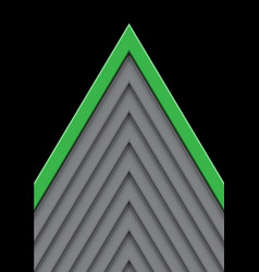 green on gray arrow pattern direction with black vector image