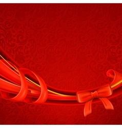 Greeting background red vector image