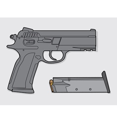 Gun and magazine vector