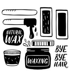 hair removal hand drawn waxing vector image