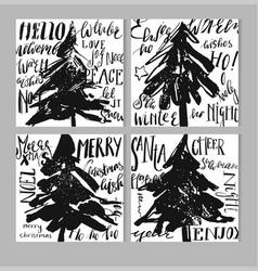 hand drawn abstract textured christmas vector image