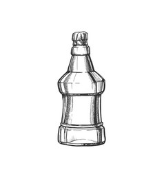 hand drawn blank embossed bottle of beer vector image