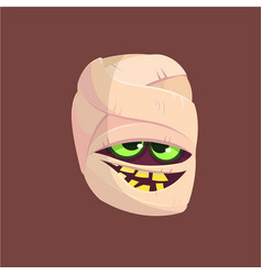 happy halloween head mummy vector image