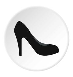 High heel shoe icon flat style vector image