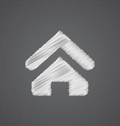Home sketch logo doodle icon vector
