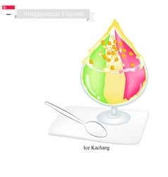 Ice Kacang A Famous Dessert in Singapore vector image