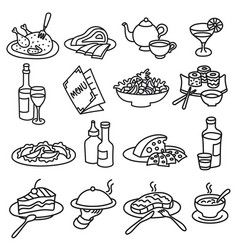 icons of foods vector image