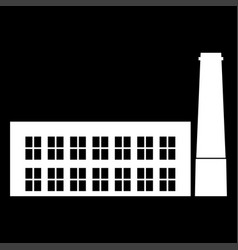Industrial building factory the white color icon vector