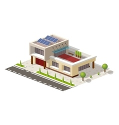 Isometric High-tech house vector image