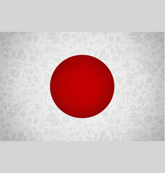 japan flag background for russian soccer event vector image