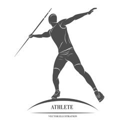 Javelin throw Athlete silhouette vector image