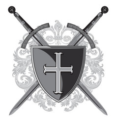 knight swords two crossed of the sword vector image