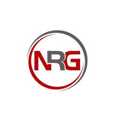 letter n r g vector image