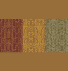 Midcentury natural colors geometric pattern vector