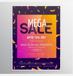 Modern creative mega sale promotional banner vector