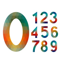 Mosaic number set vector image
