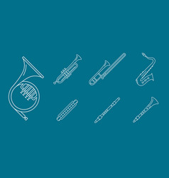 music-instruments-icons-set-05 vector image