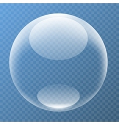 Nice bubble with glare vector