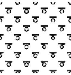 One gear pattern vector