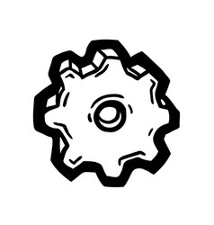 Painted gear wheel vector