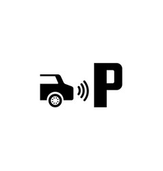 Parktronic sensor parking assist flat icon vector