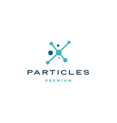 particles dot connection logo icon vector image