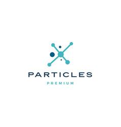 Particles dot connection logo icon vector