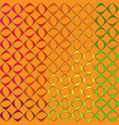 pattern from schematic colorful objects to vector image
