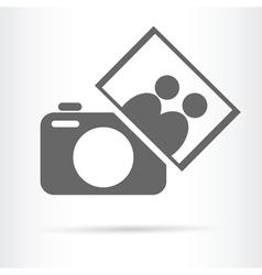 people photo camera icon vector image