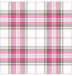Pink and gray tartan plaid scottish pattern vector