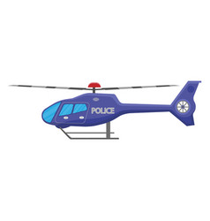 Police helicopter icon isolated on white vector