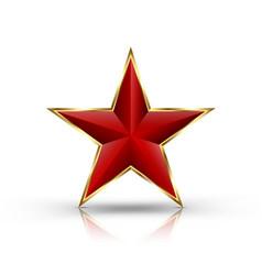 red star on golden frame vector image