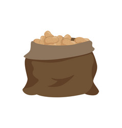 sack with potato isolated cartoon icon vector image
