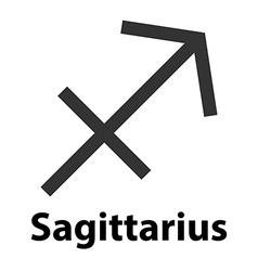 Sagittarius archer zodiac sign icon vector