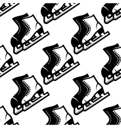 Seamless pattern of ice skates vector